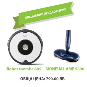 iRobot roomba 605 + Моп Moneual AME 5500