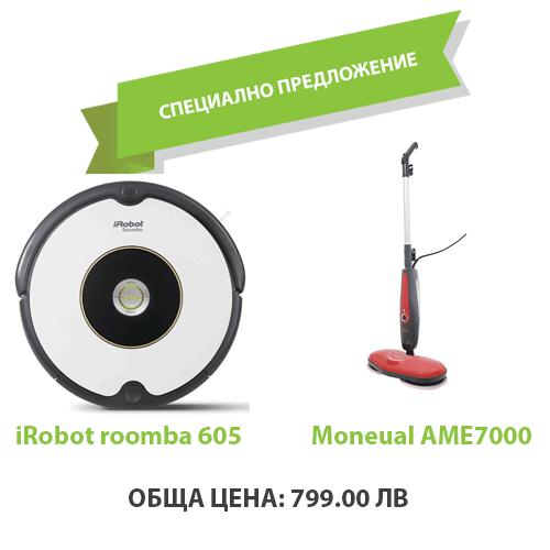 iRobot roomba 605 + Моп Moneual AME 7000