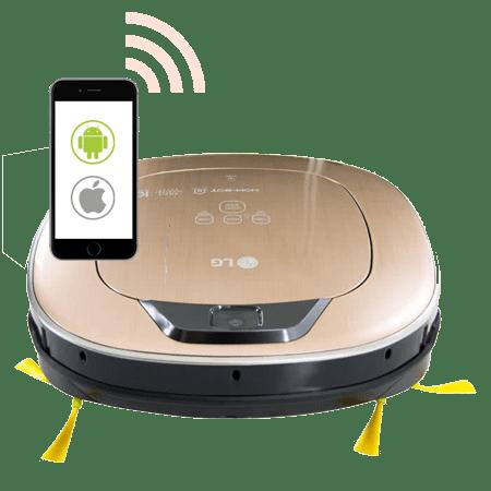 LG HOM-BOT VR9627PG Wi-Fi Прахосмукачка робот